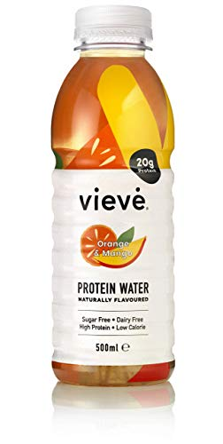 Vieve Protein Water 6x500ml - Orange & Mango | 20g Protein, Sugar Free, Fat Free & Dairy Free | A Ready to Drink Alternative to Protein Powders & Shakes | 6 Pack