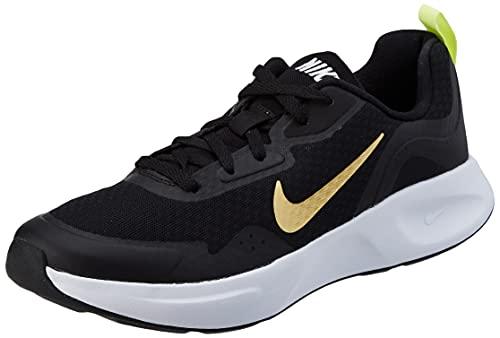Nike Wearallday, Scarpe da Ginnastica Donna, Black/Saturn Gold-Dk Smoke Grey, 35.5 EU