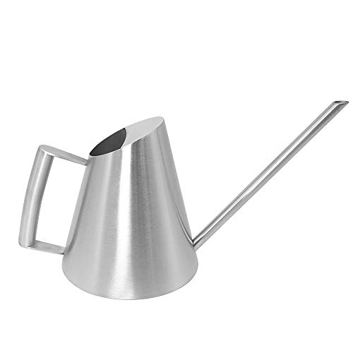 Cesun Metal Watering Can Solid Stainless Steel Pot with Long Spout Small Size for Bonsai Indoor Plants (12 Fl Oz - Classic)