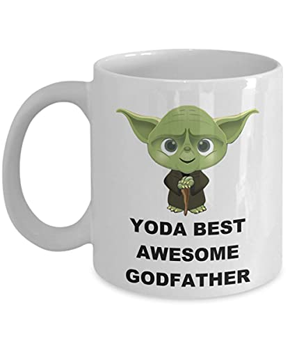 Younini Yoda Best Awesome Padrino – Regalo de cumpleaños de Navidad para hombres Él Día del Padre Familia Star Wars Película Jedi Fans Taza Taza