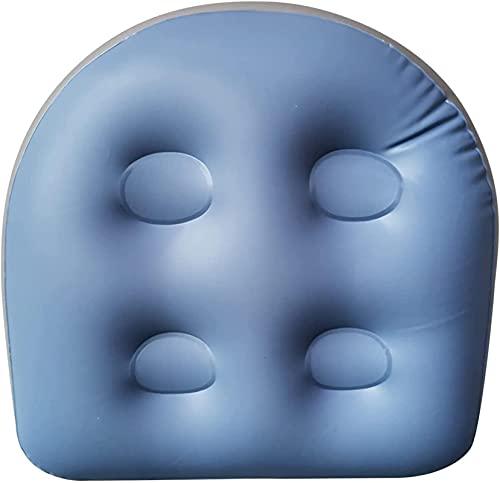 Cojín hinchable para jacuzzi y jacuzzi, con respaldo de ventosa para apoyar el asiento de...
