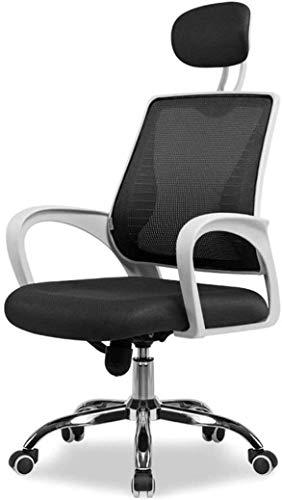 Beirich Bürostuhl, ergonomische Rückenlehne, Mittagspause mit drehbarem Hebemechanismus, Modischer Stuhl für Zuhause (Farbe, Grün + Weiß), Weiß + Schwarz
