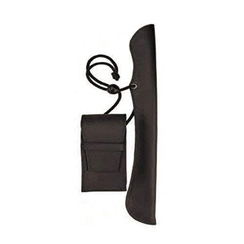 フカシロ 叺(かます) キセル用提げ物 腰提げ ロング ブラック 18011303 29cmまで対応 煙管 きせる 袋
