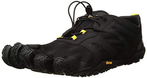 Vibram Men's V 2.0 Trail Running Shoe, Black/Yellow, 42 D EU (42 EU/9.0-9.5 M US D EU US)