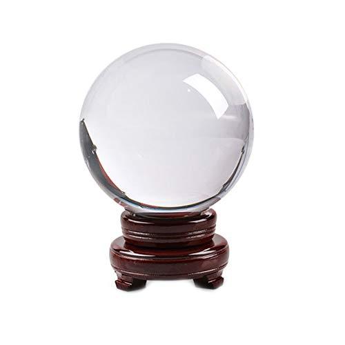 BHYDRY Esfera de Cristal Transparente Bola de Cristal Curación Fotografía Accesorios Lensball Decoración Regalo(1PC,B)