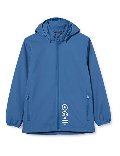 MINYMO Unisex-Child Softshell Shell Jacket, Dark Blue, 140