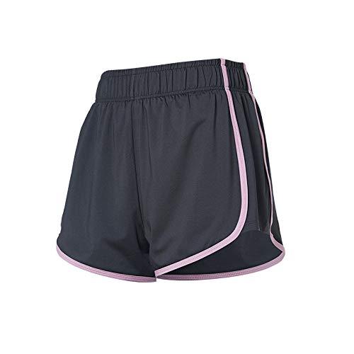 Pantalones Cortos antideslumbrantes Transpirables de Verano para Mujer, Pantalones Cortos Deportivos Ajustados con Levantamiento de Cadera, Cintura elástica, Gimnasio, Yoga, Entrenamiento, X-Large