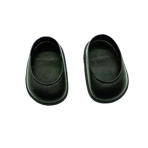 Folk Artesanía Par Zapatos para muñeca Tipo Nancy clásica Famosa Nuevo. (Negro)
