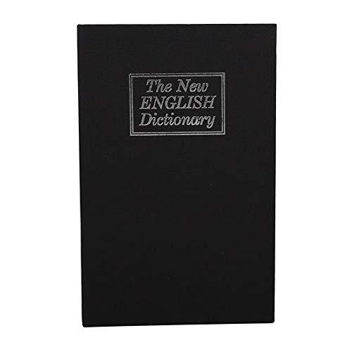 Caja de seguridad en forma de libro, diccionario Cerradura con combinación, desvío de libros, dinero seguro, joyería, taquilla oculta, 11,5 x 5,5 x 18 cm(Negro)