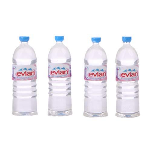 Xuniu 4 Unidades Juego de Botellas de Agua Juguetes de Casa de Muñecas Miniatura Accesorios de Bebida para Niños Regalo de Niños # 3
