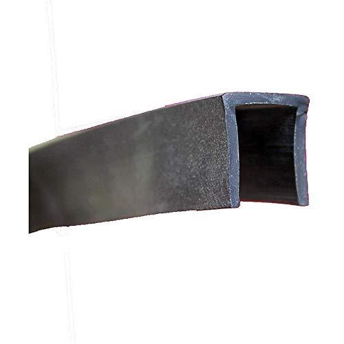 EUTRAS Kantenschutz 2019 3 m Fassungsprofil FP3005 Kantenschutz Dichtungsgummi-Spaltmaß 10,0 mm, Schwarz