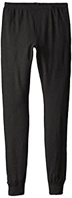Fruit of the Loom Women's Thermal Underwear Bottom, Black Soot, Medium