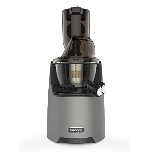 Kuvings Whole Slow Juicer EVO820GM - Higher Nutrients and Vitamins, BPA-Free Components, Easy to Clean, Ultra Efficient 240W, 50RPMs, Includes Smoothie and Blank Strainer-Gun Metal