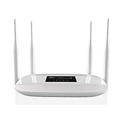 LIJINICT 4G Routers for Wireless Internet, 4G LTE Router with SIM Card Slot, LM321 Unlocked WiFi Hotspot MIMO 2x2 Up to 300mbps and 32 Users x4 RJ45