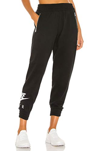 Nike Damen Air 7/8 Bb Fleece Jogginghose, Black/White, XL