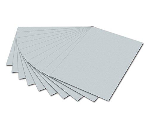 folia 6480 - Tonpapier hellgrau, DIN A4, 130 g/qm, 100 Blatt - zum Basteln und kreativen Gestalten von Karten, Fensterbildern und für Scrapbooking