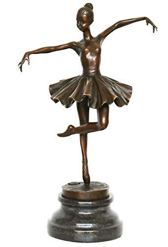 Aubaho Escultura según Degas Bailarina de Bronce Figura Antiqued Estatua réplica d