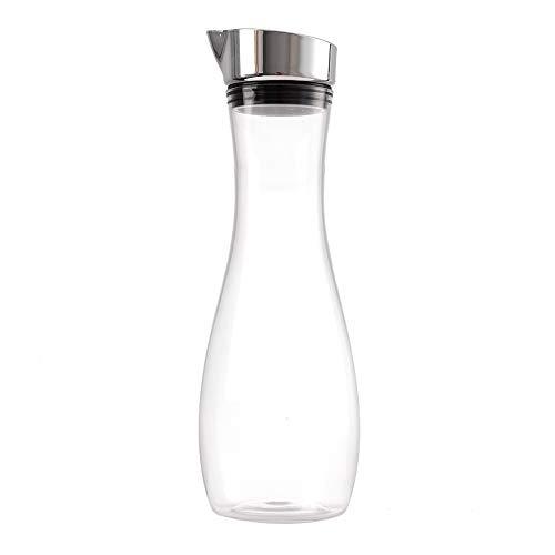 Ivaank Botella de Jugo Transparente -1.2L Botella de Jugo Transparente acrílica Botella de Jugo Transparente Jarra de Agua Jarra de Jugo con Tapa