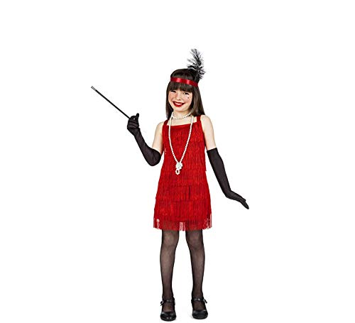 Disfraz Charleston Flecos Rojo 10-12
