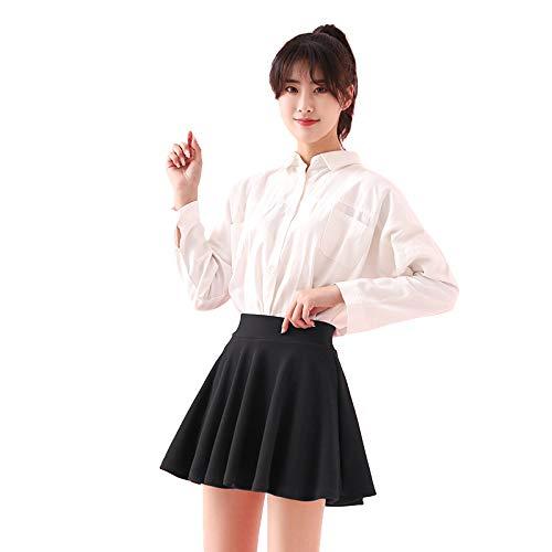 ZUHANGMENG Falda corta para mujer, transpirable, a prueba de luz, falda corta, para golf, tenis, deporte, falda de cintura alta, falda de color negro