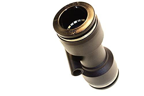 Conector neumático para manguera, conector de aire comprimido, recto, diámetro de 16 mm, adaptador de manguito, sistema de conexión, pieza de conexión