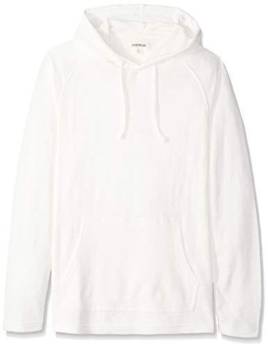 Marca Amazon - Goodthreads - Sudadera térmica flameada de manga larga con capucha para hombre, Beige (ivory), XL - XXL