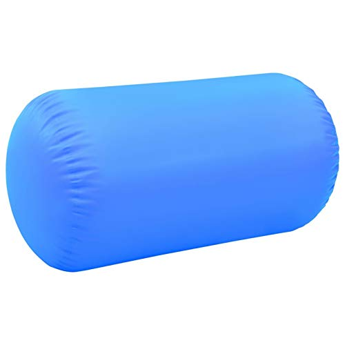 Tidyard Aufblasbare Gymnastik-Rolle mit Pumpe Aufblasbare Luft Rollen, Yoga Gymnastic Zylinder, Gym Air Barrel, Airtrack Ãœbung Spalte 120x90 cm PVC Blau