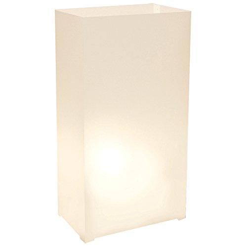 Lumabase 31812 Plastic, White 10 Count Luminaria Lantern, Color