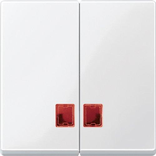 Merten MEG3456-0319 Doppelwippe mit rotem Symbolfenster, polarweiß glänzend, System M