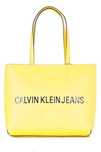 Calvin Klein Sculpted EW Tote 29 Lemon Chrome