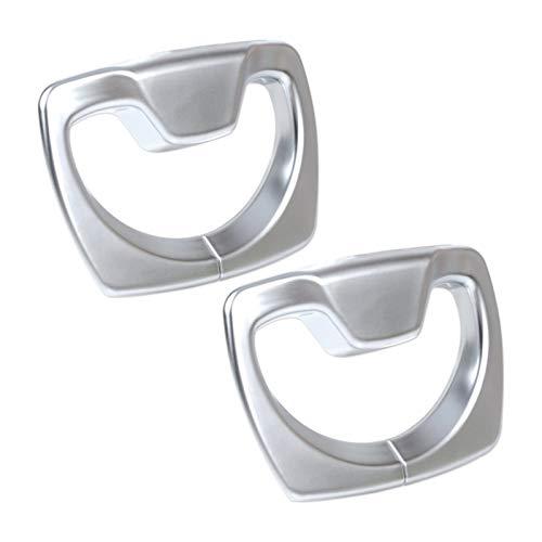 September Department Store 2pcs Chrome B Cinturón de seguridad para el asiento de seguridad de la cubierta de la cubierta del marco de la cubierta del ajuste del ajuste para -BMW 3 4 Series F30 F31 F3