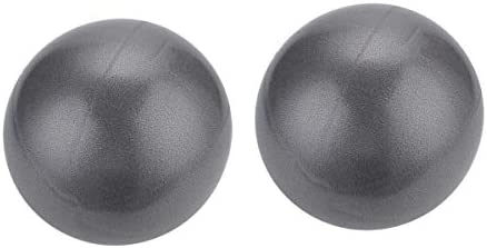 """TECH-P Pilates Mini Exercise Ball - 25cm (7"""" to 9"""") Stability Ball for Pilates, Yoga, Training and Physical Therapy-2 Pack"""