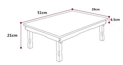 Eettafel LKU Kleine rechthoekige eettafel opvouwbare tafelpoten woonkamer salontafel traditionele antieke meubelen, 51x39x21cm