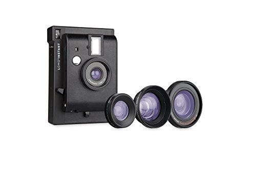 Lomography Lomo'Instant Sofortbildkamera inkl. 3 Linsen, Black