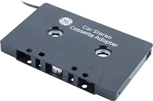 GE Car Stereo Cassette Adapter, 3.5mm Jack, For Mobile Phones, Smartphones, iPods, CD Players, MP3 Players and other Mobile Devices, Black, 34496