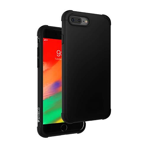 InvisibleShield 360 - Carcasa para iPhone 8 Plus y iPhone 7 Plus, Color Negro