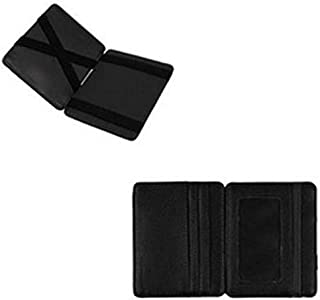 Black Leather For Unisex - Magic Wallet