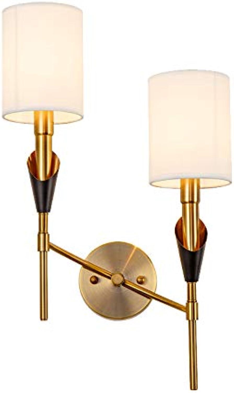 Muzi Trade Wandleuchte Flur Gang Wohnzimmer Nacht Glas Stoff Persnlichkeit einfache Licht Luxus Lampe, Einzelkopf