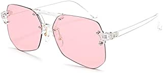 Sunglasses Fashion Accessories Light and Elegant Style Sunglasses Frame UV Outdoor Mountaineering Tourism (Color : Pink)
