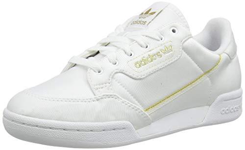 adidas Continental 80 W, Scarpe da Ginnastica Donna, Ftwr White/Gold Met./Core Black, 37 1/3 EU