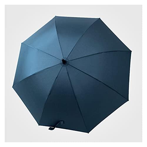 YONGLI Viajes Parasoles A Prueba De Viento Retunse Largo Paraguas Mujeres Hombres Marca De Negocios Lluvia Paraguas Golf Automático Glassfiber Paraguas (Color : Blue)