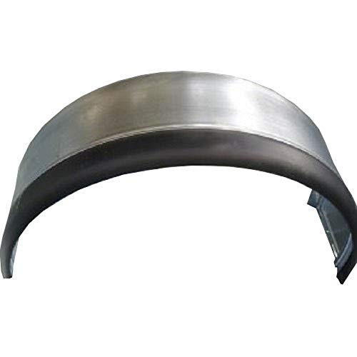 Guardabarro galvanizado con bordón de goma, para remolque rueda 14