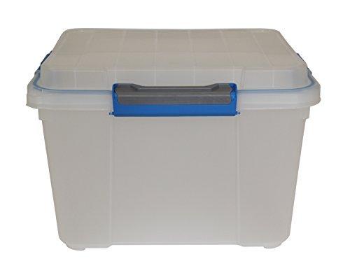 Ondis24 stabile Transportbox Lagerbox Werkzeugbox mit Dichtring im Deckel Multifunktionsbox Scuba M transparent