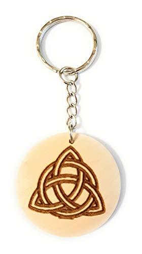 Schlüsselanhänger Holz Keltischer Knoten, Holzgeschenke