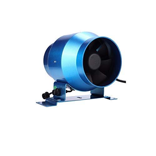 JEONSWOD Ventilador de Escape de 4 Pulgadas, Ventilador de conducto de Velocidad Ajustable, Extractor de ventilación de tubería de ventilación de Aire de Ventana de Campo de Cultivo de jardín