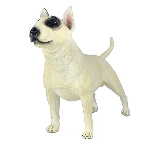 "sknonr 5.8"" Bull Terrier Figura, tamaño pequeño White Bull Terrier Estatua for la decoración casera"