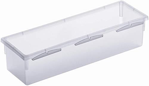 Rotho Basic modulare Ordnungsbox 23 x 8 cm für Schubladen, Kunststoff (PP) BPA-frei, transparent, (23,0 x 8,0 x 5,0 cm)