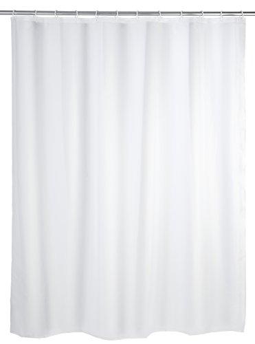 Wenko Duschvorhang Uni - wasserabweisend, pflegeleicht,200 x 120 cm, weiß