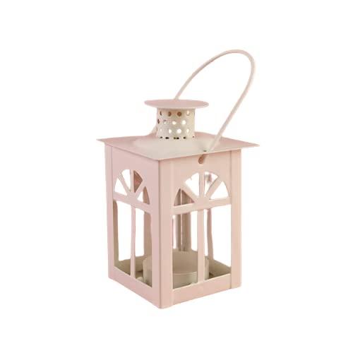 AMZYY Nordisk järnljusstake ljus vintage bröllop dekoration accessoarer konst bord ljushållare heminredning soffbord dekor, vit-A