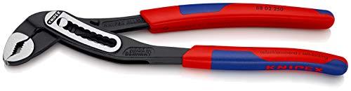 KNIPEX 88 02 250 Alligator® Wasserpumpenzange schwarz atramentiert mit schlanken Mehrkomponenten-Hüllen 250 mm